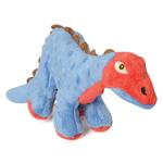 View Image 1 of goDog Spike Dino Dog Toy with Chew Guard - Blue
