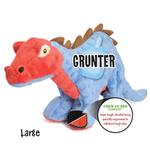 View Image 3 of goDog Spike Dino Dog Toy with Chew Guard - Blue