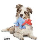 View Image 4 of goDog Spike Dino Dog Toy with Chew Guard - Blue