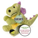 View Image 4 of goDog Dragons Dog Toy - Lime Green
