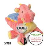 View Image 3 of goDog Dragons Tough Plush Dog Toy - Coral