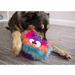 View Image 9 of goDog Furballz Dog Toy - Cool Rainbow
