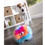 View Image 7 of goDog Furballz Dog Toy - Cool Rainbow