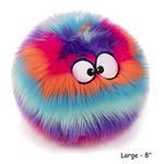 View Image 8 of goDog Furballz Dog Toy - Cool Rainbow
