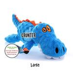 View Image 2 of goDog Gators Dog Toy - Blue/Orange