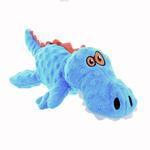 View Image 1 of goDog Just for Me Gator Dog Toy - Blue