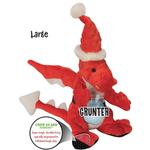 View Image 4 of goDog Santa Dragon Dog Toy with Chew Guard
