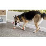 View Image 3 of goDog Checkers Skinny Rooster Dog Toy - White