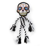 View Image 1 of goDog Sugar Skulls Rope Dog Toy - Large White