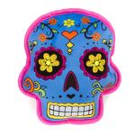 View Image 1 of goDog Sugar Skulls Tough Dog Toy - Blue