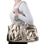 View Image 3 of Gold Croc Metro Tassel Dog Carrier by Petote