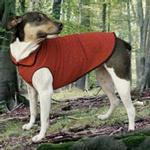 View Image 1 of Gold Paw EcoFleece Dog Pullover - Ruby Red