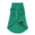 View Image 5 of Gold Paw Fleece Dog Jacket - Emerald Green