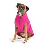 View Image 4 of Gold Paw Fleece Dog Jacket - Fuchsia