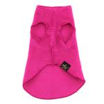 View Image 2 of Gold Paw Fleece Dog Jacket - Fuchsia