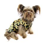 View Image 2 of Gold Paw Fleece Dog Jacket - Leopard