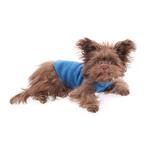 View Image 4 of Gold Paw Fleece Dog Jacket - Marine Blue