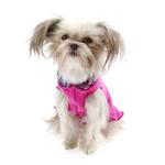View Image 3 of Gold Paw Reversible Double Fleece Dog Jacket - Mulberry Plaid/Fuchsia