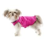 View Image 4 of Gold Paw Reversible Double Fleece Dog Jacket - Mulberry Plaid/Fuchsia