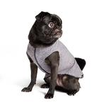 View Image 3 of Gold Paw Sun Shield Dog Shirt - Heather Gray