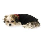 View Image 5 of Gold Paw Reversible Double Fleece Dog Jacket - Red Tartan/Black