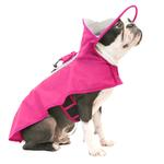 View Image 2 of Gooby Adjustable Dog Raincoat - Pink