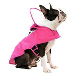 View Image 3 of Gooby Adjustable Dog Raincoat - Pink