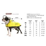 View Image 6 of Gooby Adjustable Dog Raincoat - Yellow