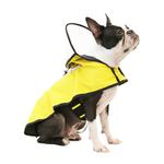 View Image 2 of Gooby Adjustable Dog Raincoat - Yellow