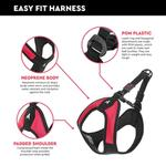 View Image 6 of Gooby Escape Proof Easy Fit Dog Harness - Purple