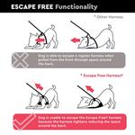 View Image 5 of Gooby Escape Proof Easy Fit Dog Harness - Red