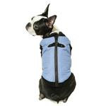 View Image 2 of Gooby Fashion Quilted Dog Vest - Gray