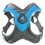 View Image 1 of Gooby Trekking Step-in Memory Foam Dog Harness - Ocean Blue