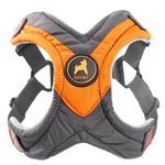 View Image 1 of Gooby Trekking Step-in Memory Foam Dog Harness - Mandarin Orange