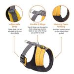 View Image 6 of Gooby Wind Parka Dog Harness - Yellow