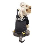 View Image 2 of Got Bones? Padded Dog Coat with Removable Hoodie by Klippo