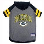 View Image 1 of Green Bay Packers Hooded Dog T-Shirt
