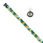 View Image 1 of Green Bay Packers Team Camo Dog Collar and Tag by Yellow Dog