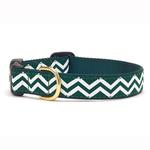 View Image 1 of Green and White Chevron Dog Collar by Up Country