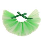 View Image 1 of Green and White Tulle Dog Tutu by Pawpatu