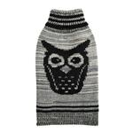 View Image 1 of Growl Owl Dog Sweater By Hip Doggie - Grey