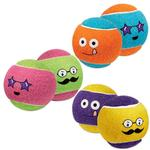 View Image 1 of Grriggles Funny Faces Tennis Ball Doy Toy