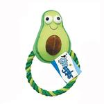 View Image 1 of Grriggles Happy Veggies Rope Tug Dog Toy - Avocado
