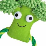 View Image 2 of Grriggles Happy Veggies Rope Tug Dog Toy - Broccoli
