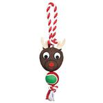 View Image 1 of Grriggles Holiday Rope Tennis Tug Dog Toy - Reindeer