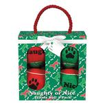 View Image 1 of Grriggles Naughty or Nice Tennis Ball Dog Toy Gift Pack