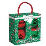 View Image 2 of Grriggles Naughty or Nice Tennis Ball Dog Toy Gift Pack
