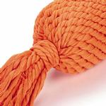 View Image 2 of Grriggles Ruff Rope Squeaker Tosser Dog Toy - Orange