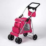 View Image 2 of Guardian Gear Classic II Dog Stroller - Magenta