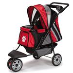View Image 2 of Guardian Gear Roadster II Dog Stroller - Red